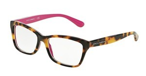 Dolce & Gabbana DG3215 2892 TOP HAVANA ON CYCLAMEN
