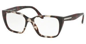 Prada PR 08TV U6K1O1 SPOTTED OP BROWN/SPOTTED RED