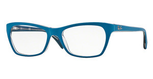 Ray-Ban RX5298 5391 TOP MATTE BLUE ON TRASP BEIGE