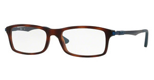 Ray-Ban RX7017 5574 MATTE RED HAVANA