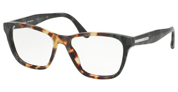 Prada PR 04TV U6M1O1 MEDIUM HAVANA/SPOTTED GREEN