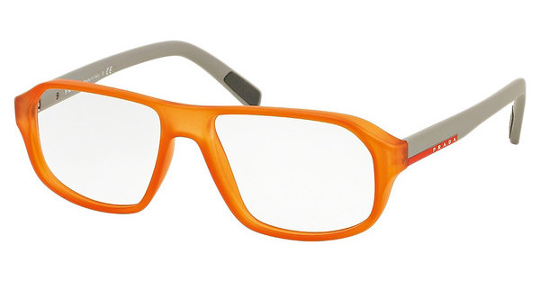 Prada Sport PS 05GV UFL1O1 TRANSPRENT ORANGE RUBBER