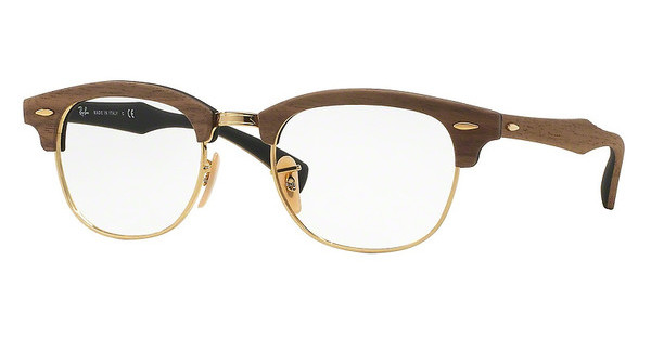 Ray-Ban RX5154M 5560 WALNUT RUBBER BLACK