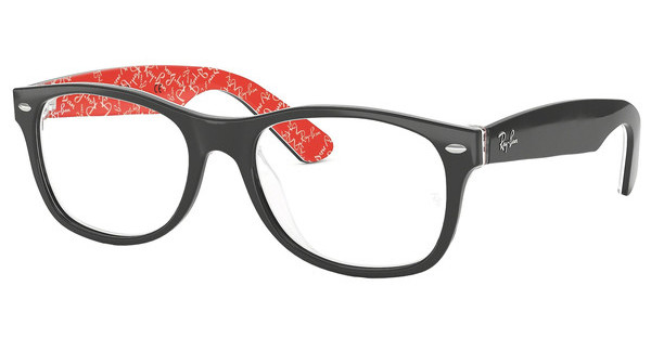 Ray-Ban RX5184 2479 TOP BLACK ON TEXTURE RED