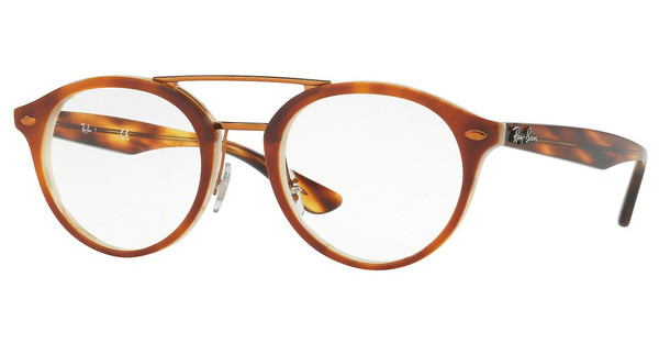 Ray-Ban RX5354 5677 TOP HAVANA BROWN/HORN BEIGE