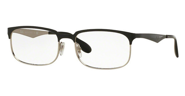 Ray-Ban RX6361 2861 TOP SHINY BLACK ON SILVER