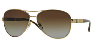 Burberry BE3080 1145T5 POLAR BROWN GRADIENTLIGHT GOLD