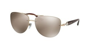 Bvlgari BV6086B 389/5A LIGHT BROWN MIRROR DARK GOLDPINK GOLD