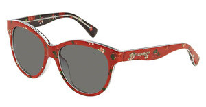 Dolce & Gabbana DG4176 298787 GREYROSE/FLOWERS ON RED