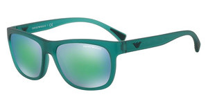 Emporio Armani EA4081 553431 LIGHT BLUE MIRROR GREENMATTE TRANSPARENT PETROLEUM