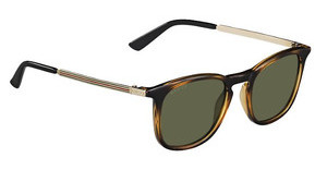 Gucci GG 1130/S QWR/1E GREENLTHVNA GD (GREEN)