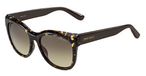 Jimmy Choo NURIA/S W03/6P BROWN FL GOLDBW SPTTD