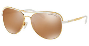 Michael Kors MK1012 11122T GOLD MIRROR POLARIZEDGOLD/WHITE