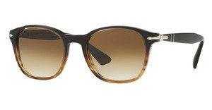 Persol PO3150S 102651 CLEAR GRADIENT BROWNBROWN/BROWN STRIPED
