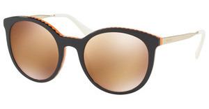 Prada PR 17SS VH56T0 ORANGE GOLD MIRRORVIOLET/ORANGE