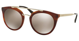 Prada PR 23SS USE1C0 LIGHT BROWN MIRROR GOLDSTRIPED BROWN