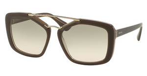 Prada PR 24RS UED3H2 LIGHT BROWN GRAD LIGHT GREENOPAL BROWN/BEIGE/OPAL BROWN