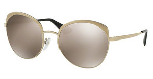 Prada PR 54SS VAQ1C0 LIGHT BROWN MIRROR GOLDMETALLIZED PALE GOLD