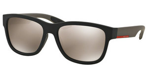 Prada Sport PS 03QS DG01C0 LIGHT BROWN MIRROR GOLDBLACK RUBBER