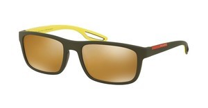 Prada Sport PS 03RS UFI5N2 POLAR BROWNGREEN RUBBER