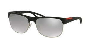 Prada Sport PS 57QS TFZ1A0 LIGHT GREY MIRROR GRAD SILVERGREY RUBBER
