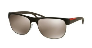 Prada Sport PS 57QS UBY1C0 LIGHT BROWN MIRROR GOLDBROWN RUBBER/STEEL RUBBER