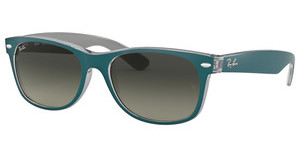 Ray-Ban RB2132 619171 LIGHT GREY GRADIENT DARK GREYTOP MT PETROLEUM ON GREY
