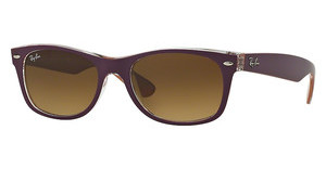 Ray-Ban RB2132 619285 LIGHT BROWN GRADIENT DARK BROWTOP MATTE VIOLET ON ORANGE