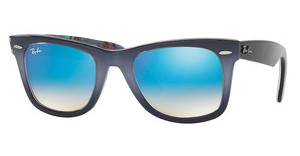 Ray-Ban RB2140 11984O MIRROR GRADIENT BLUETOP GRAD GREY ON BLUE