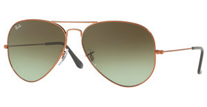 Ray-Ban RB3026 9002A6 GREEN GRADIENT BROWNSHINY MEDIUM BRONZE