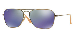 Ray-Ban RB3136 167/68 BLUE MIRRORDEMIGLOS BRUSHED BRONZE