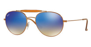 Ray-Ban RB3540 198/8B BLUE FLASH GRADIENTSHINY BRONZE