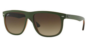 Ray-Ban RB4147 613713 GRADIENT BROWNTOP MAT GREEN ON TRASP BROWN
