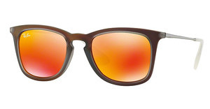 Ray-Ban RB4221 61676Q BROWN MIRROR ORANGESHOT RED RUBBER