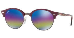 Ray-Ban RB4246 1222C2 LIGHT GREY MIRROR RAINBOW 1TOP BORDEAUX ON TRASPARENT BOR