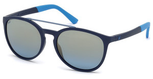 Web Eyewear WE0183 91X blau verspiegeltblau matt