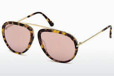 Güneş gözlüğü Tom Ford Stacy (FT0452 53Z) - Havana rengi, Yellow, Blond, Brown