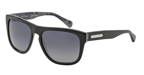 Dolce & Gabbana DG4222 2803T3 POLAR GREY GRADIENTTOP BLACK/MIMETIC