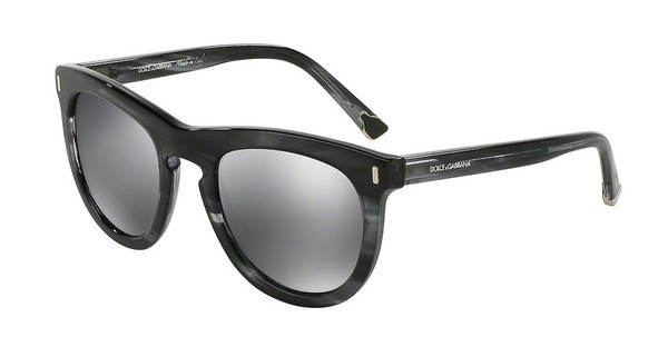 Dolce & Gabbana DG4281 29246G GREY MIRROR BLACKSTRIPED ANTHRACITE