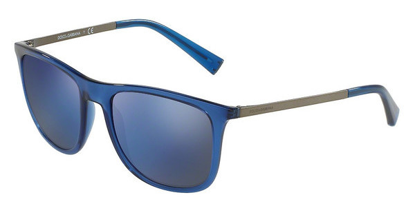 Dolce & Gabbana DG6106 3067Y7 GREY MIRROR BLUE MATTETRANSPARENT BLUE