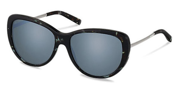 Jil Sander J3002 C blue mirror - 88%Havana Grey Blue