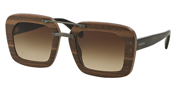 Prada PR 30RS IAM6S1 BROWN GRADIENTNUT CANALETTO
