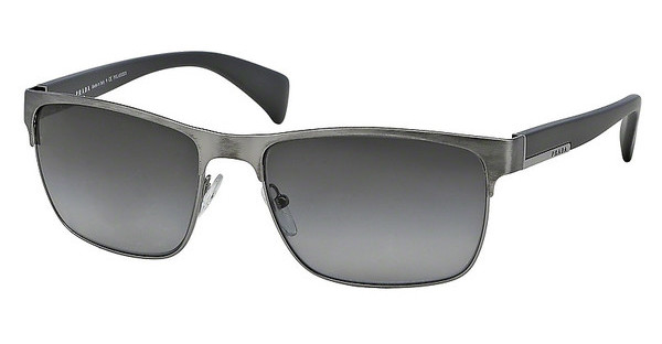 Prada PR 51OS DHG5W1 POLAR GREY GRADIENTANTIQUE BRUSHED GUNMETAL