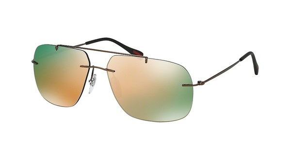 Prada Sport PS 55PS ROU2D2 GREY MIRROR ROSE GOLDMATTE BROWN