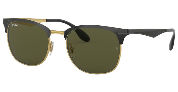 Ray-Ban RB3538 187/9A DARK GREEN POLARTOP SHINY BLACK ON GOLD