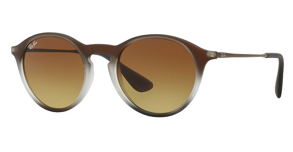Ray-Ban RB4243 622413 LIGHT BROWN GRADIENT BROWNBROWN SHOT ON BLACK