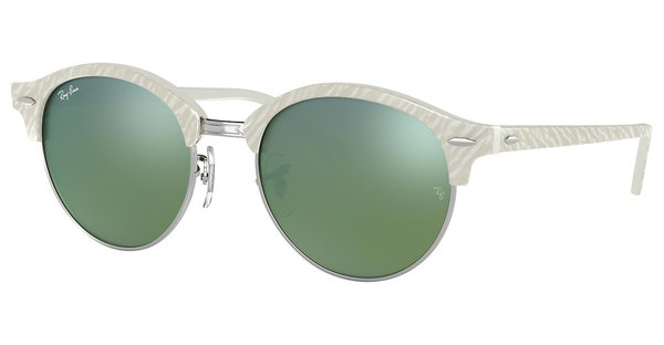 Ray-Ban RB4246 988/2X GREEN MIRROR GREENTOP WRINKLED WHITE ON WHITE