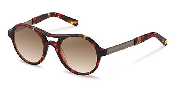 Rocco by Rodenstock RR319 B sun protect brown gradient - 77%black/ red havana