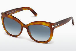 Güneş gözlüğü Tom Ford Alistair (FT0524 53W) - Havana rengi, Yellow, Blond, Brown