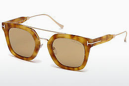 Güneş gözlüğü Tom Ford Alex (FT0541 53E) - Havana rengi, Yellow, Blond, Brown